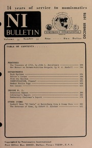 Numismatics International Bulletin, Vol. 12, No.12