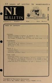 Numismatics International Bulletin, Vol. 12, No.3