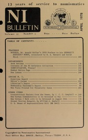 Numismatics International Bulletin, Vol. 12, No.4
