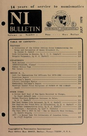 Numismatics International Bulletin, Vol. 12, No.7