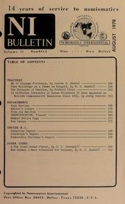 Numismatics International Bulletin, Vol. 12, No.8