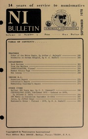 Numismatics International Bulletin, Vol. 12, No.9