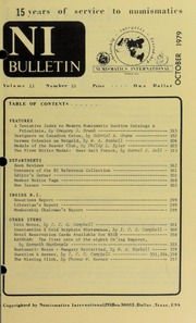 Numismatics International Bulletin, Vol. 13, No.10