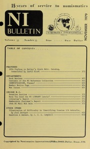 Numismatics International Bulletin, Vol. 13, No.11