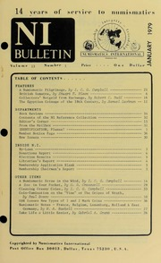 Numismatics International Bulletin, Vol. 13, No.1