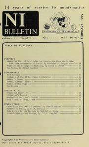 Numismatics International Bulletin, Vol. 13, No.2
