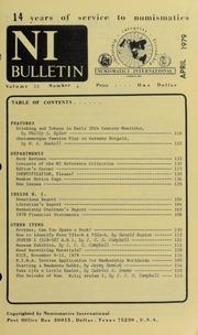 Numismatics International Bulletin, Vol. 13, No.4