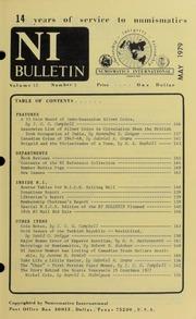 Numismatics International Bulletin, Vol. 13, No.5