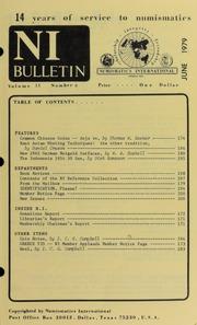 Numismatics International Bulletin, Vol. 13, No.6