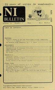 Numismatics International Bulletin, Vol. 13, No.7