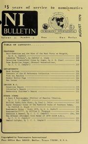Numismatics International Bulletin, Vol. 13, No.8