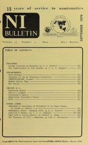 Numismatics International Bulletin, Vol. 13, No.9