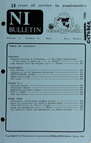 Numismatics International Bulletin, Vol. 14, No.10