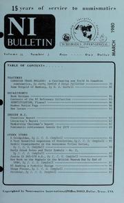 Numismatics International Bulletin, Vol. 14, No.3