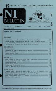 Numismatics International Bulletin, Vol. 14, No.5