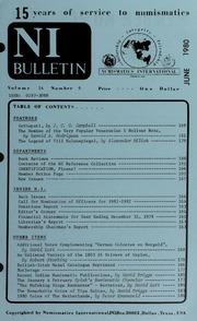 Numismatics International Bulletin, Vol. 14, No.6