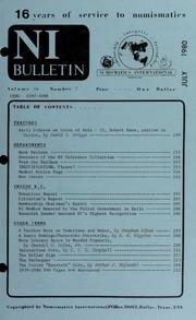 Numismatics International Bulletin, Vol. 14, No.7