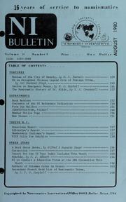 Numismatics International Bulletin, Vol. 14, No.8