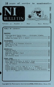 Numismatics International Bulletin, Vol. 14, No.9