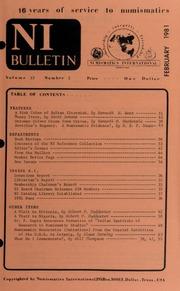 Numismatics International Bulletin, Vol. 15, No.2
