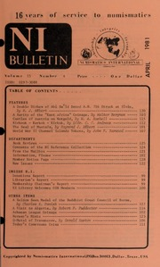 Numismatics International Bulletin, Vol. 15, No.4
