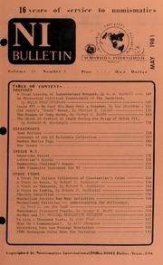 Numismatics International Bulletin, Vol. 15, No.5