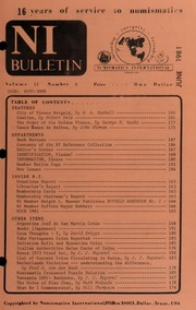 Numismatics International Bulletin, Vol. 15, No.6