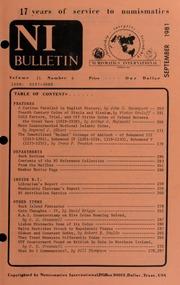 Numismatics International Bulletin, Vol. 15, No.9