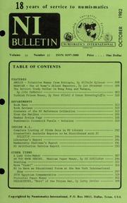 Numismatics International Bulletin, Vol. 16, No.10