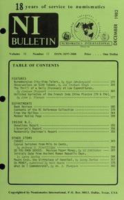 Numismatics International Bulletin, Vol. 16, No.12