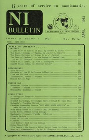 Numismatics International Bulletin, Vol. 16, No.4