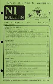 Numismatics International Bulletin, Vol. 16, No.5