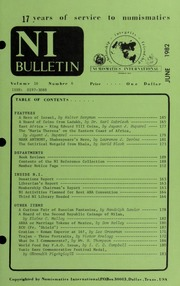 Numismatics International Bulletin, Vol. 16, No.6