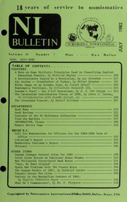Numismatics International Bulletin, Vol. 16, No.7