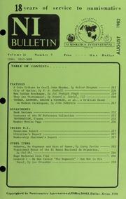 Numismatics International Bulletin, Vol. 16, No.8