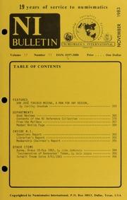 Numismatics International Bulletin, Vol. 17, No.11