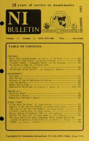 Numismatics International Bulletin, Vol. 17, No.12