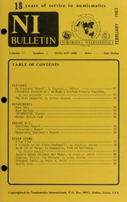 Numismatics International Bulletin, Vol. 17, No.2