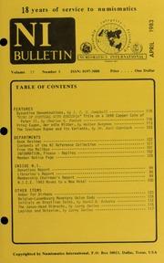 Numismatics International Bulletin, Vol. 17, No.4