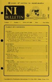 Numismatics International Bulletin, Vol. 17, No.6