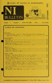 Numismatics International Bulletin, Vol. 17, No.9