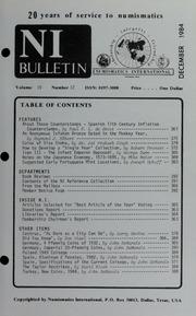 Numismatics International Bulletin, Vol. 18, No.12
