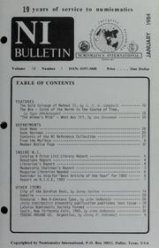 Numismatics International Bulletin, Vol. 18, No.1
