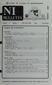 Numismatics International Bulletin, Vol. 18, No.3