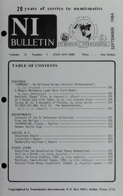 Numismatics International Bulletin, Vol. 18, No.9