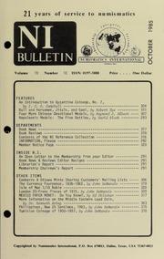 Numismatics International Bulletin, Vol. 19, No.10