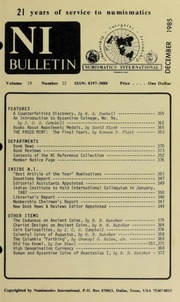 Numismatics International Bulletin, Vol. 19, No.12