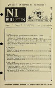 Numismatics International Bulletin, Vol. 19, No.2