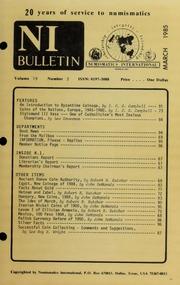 Numismatics International Bulletin, Vol. 19, No.3