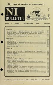 Numismatics International Bulletin, Vol. 19, No.4